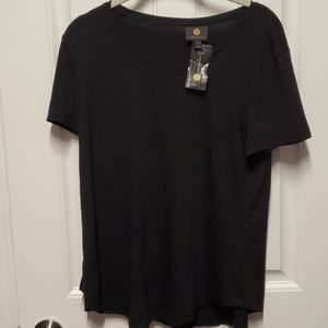 NWT JM Collection Black Tee